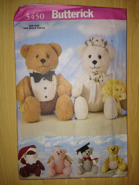 Butterick 90s Pattern 5450 Special Occasion Bears