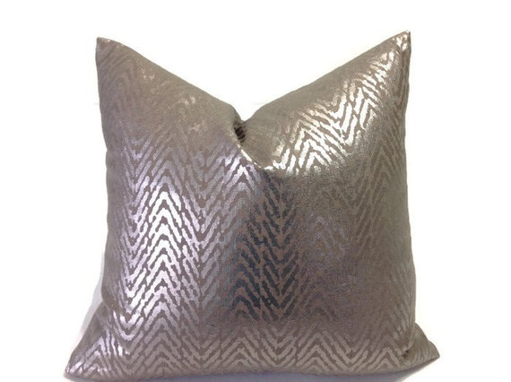 Items similar to Pillows, Silver Pillows, Metallic Decorative Throw Pillow covers, Designer ...