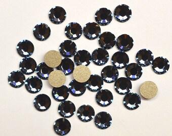 36 Denim Blue 20ss Swarovski Flat back Rhinestones-Loose Rhinestones-Bulk Rhinestones-Wholesale Rhinestones-Loose Crystals
