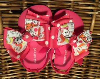 Marie Aristocats Toddler Flip Flop Sandals Sizes: 5 (2 left), 8 (1 left), 9 (2 left), 12/13 (4 left)