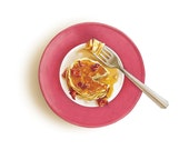 Overnight Pancakes with The Ultimate Pancake Syrup 8x8 Print