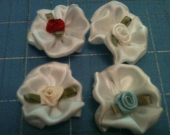 Baby flower elastic headband or Velcro hair clip