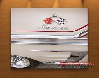 Impala, Chevy, Chevrolet Car, 60s Cars, 1960s Cars, Boyfriend Gift, Car Art, Black and White, Automobile Art, Automotive Print, Guy Thing