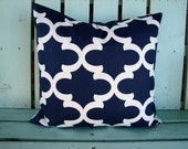 new 18x18  navy and white fynn print- pillow cover-accent pillow cover- decorative pillow cover-gifts under 40-throw pillow