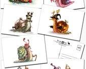 Snail Mail: Postcard set of 7