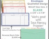 Wallet Size - Printable Cash Envelope Ver.2, Budgeting System, Money Budget Envelopes, Cash Organizer - Set of 5, Instant Download-PB1514