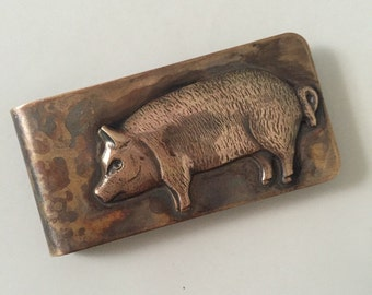 Pig Money Clip
