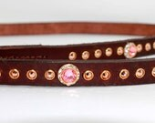 "Leather Dog Leash Custom Matching 1/2"" wide Leash to match any Dog Collar"