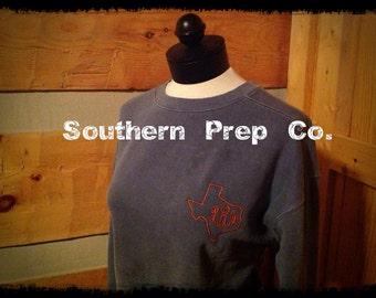 CLEARANCE LARGE BLUEJEAN Monogrammed Unisex Comfort Colors Sweatshirt