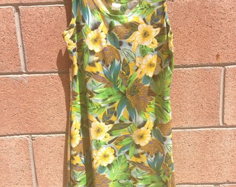 Tropical dress /mini dress/ medium