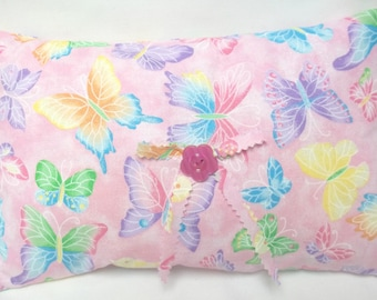 Butterfly Accent Pillow  Cottage Chic