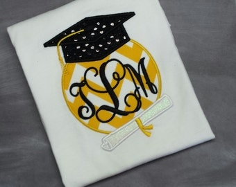 Embroidered graduation shirt colors can be changed