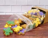 Decorated Cookies - 1 pound - Mardis Gras - NOLA - Fleur de Lis
