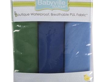 Babyville Boutique PUL diaper cut package - boy solids