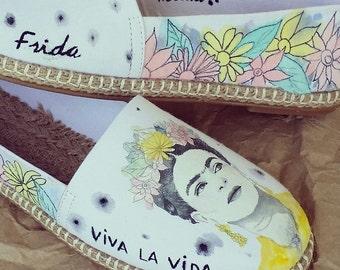 Handpainted Frida Kahlo Espadrille