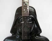 Darth Vader Star Wars Electric Acoustic Ooak Handmade Custom Guitar