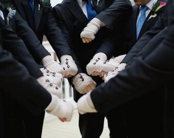 The groomsmen gloves Men's Gloves- Mittens- Men fingerless gloves- ecru- Arm Warmers- Motorcycle Gloves