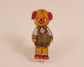Dolly Dingle Puppy Paper Doll Brooch Pin