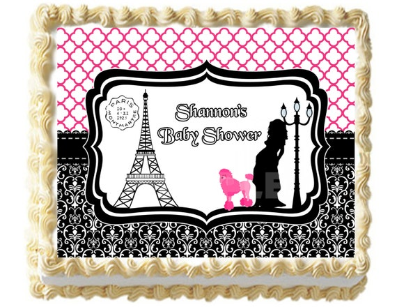 Paris Themed Baby Shower Cakes Paris Baby Shower Cake
