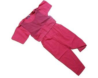 90s Jumpsuit/ Pink Jumpsuit/ 90s Club Kid/ 90s Romper/ 90s Crop Top/ 80s Romper/ Romper Women/ 80s Jumpsuit/ Pants Suit/ Cat Suit/ Playsuit