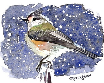 ACEO Limited Edition 1/25- Winter titmouse