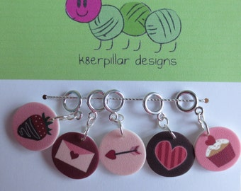 Snagless Stitch Markers - Be My Valentine