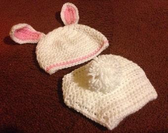Newborn Photography Prop Bunny Diaper cover Set