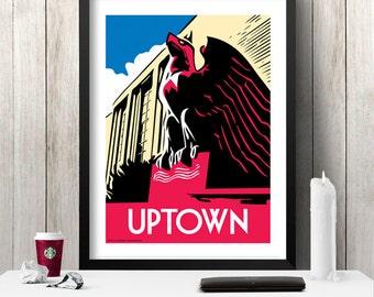 UPTOWN Chicago Neighborhood Poster