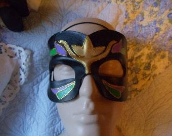 Leather Mardi Gras Mask