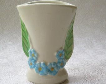 Vase USA Violets Forget-Me-Nots McCoy Shawnee Floral Vintage Pottery 1940s