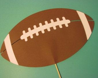 Football photo prop on a stick, Wedding photo props, photo booth props, football on a stick
