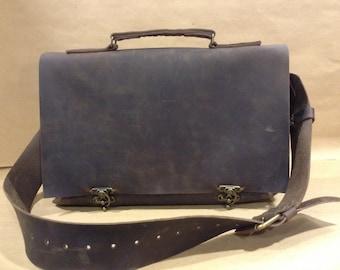 Men Briefcase Work Bag-Top-handle-Rustic Brown leather Briefcase-Laptop Sleeve bag-Easy opening Briefcase Bag-Custom Briefcase Bag