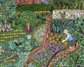 Bookmark - Monk's House Bookmark - Virginia Woolf - Bloomsbury - Booklovers - Garden