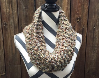 """Super Chunky """"Earth"""" Eternity Scarf / green / blue / brown / infinity"""