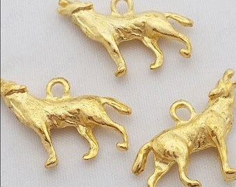 30pcs 26*20mm golden wolf finding wolf accessories fit diy