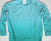 SIZE XL Blue/Green Ombre Heart Cut out Sweatshirt  for a full figure girl