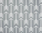 Gray Arrow Fabric