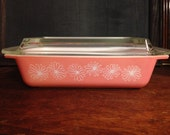 Pyrex Pink Daisies Space Saver 575 (2 quart) w/lid, Excellent, Like New!