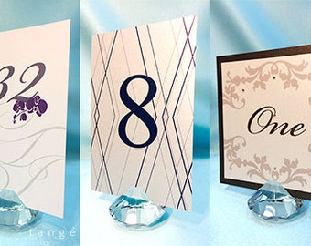 "2""x2"" Crystal TABLE NUMBER Holders/ Place Card holders/ menu holder/ unique place card holder/ wedding decoration/ Wedding gift"