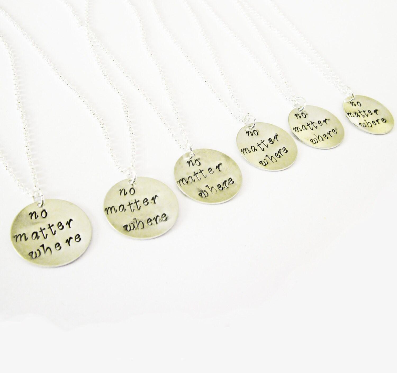 6 best friends necklaces distance necklace personalized