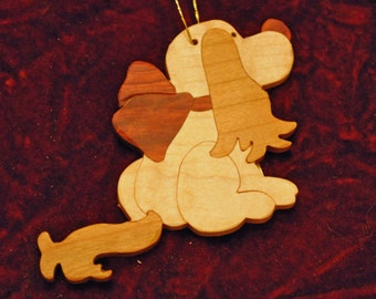 Dog, Puppy, Doggie Wooden Christmas Ornament