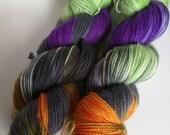 Casta on Max 80/20 SW Merino Nylon Hand dyed fingering weight sock yarn