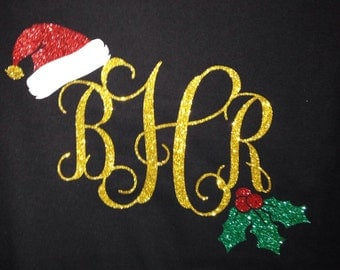 Christmas monogram shirt! You pick the colors you want!