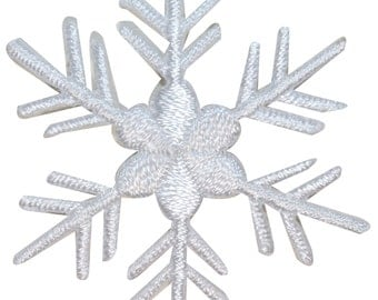 ID #8144 Snowflake Winter Season Ice Holiday Embroidered Iron On Applique Patch