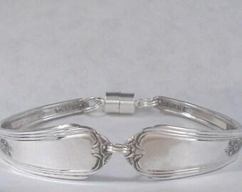 1938 Jewel Silverplate Spoon Bracelet