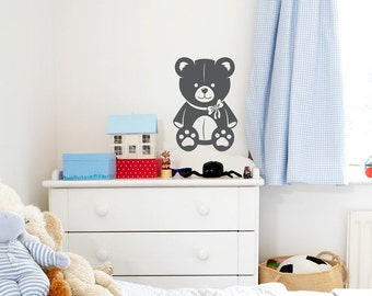 Teddy Bear Wall Decal - Teddy Bear Decor, Teddy Bear Nursery, Bear Sticker, Bear Wall Decor, Modern Nursery Decal, Bear Wall Decal