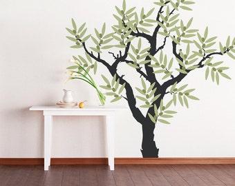 Olive Tree Vinyl Wall Decal - Tree Wall Sticker, Nature Wall Decal, Nursery Tree Wall Decal, Living Room Wall Art, Olive Tree Decor
