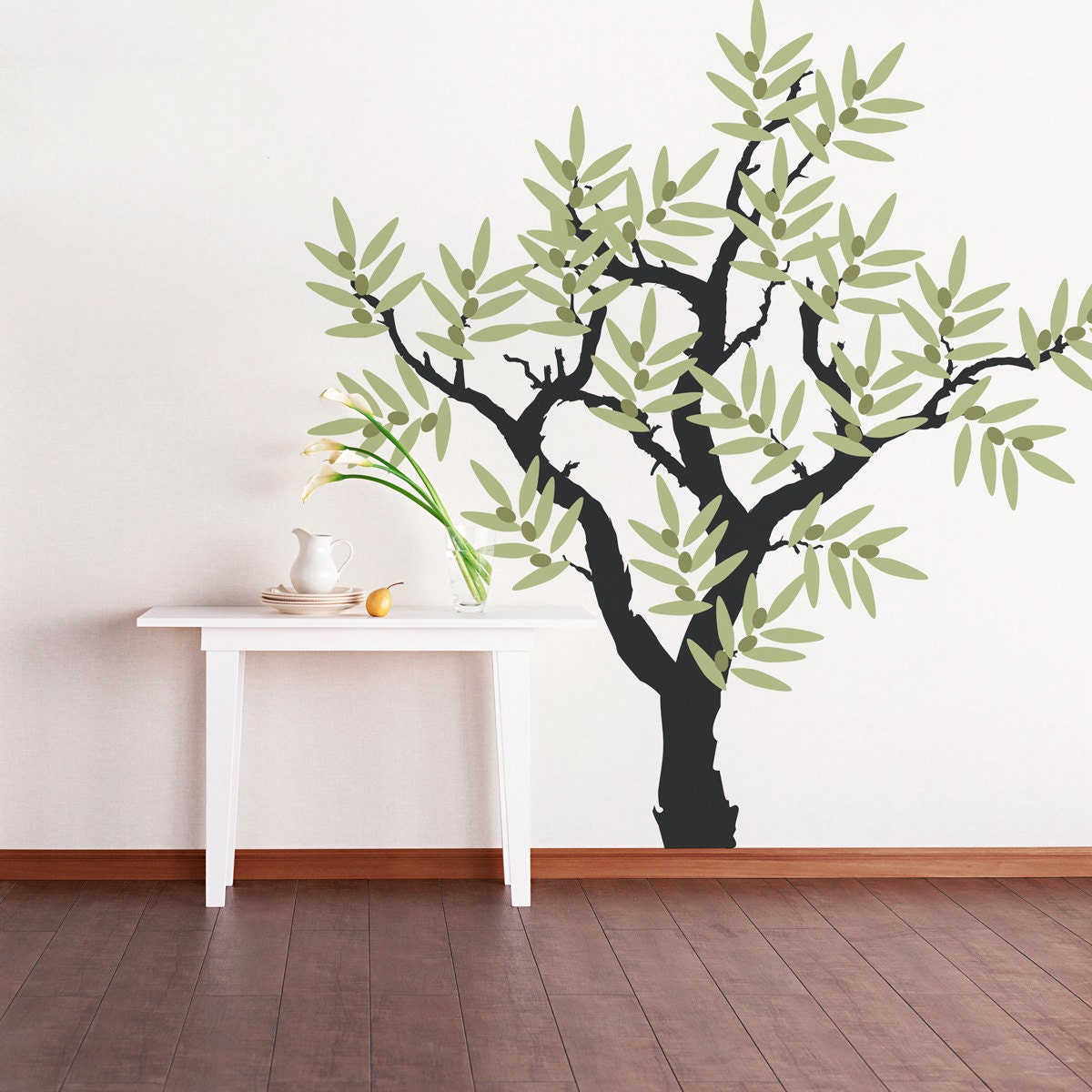 Olive tree vinyl wall decal tree wall sticker nature wall zoom amipublicfo Gallery