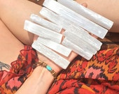 1 SELENITE stick - reiki - zen - meditation - crystals
