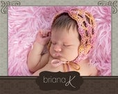 Newborn Cora Bonnet Crochet PATTERN
